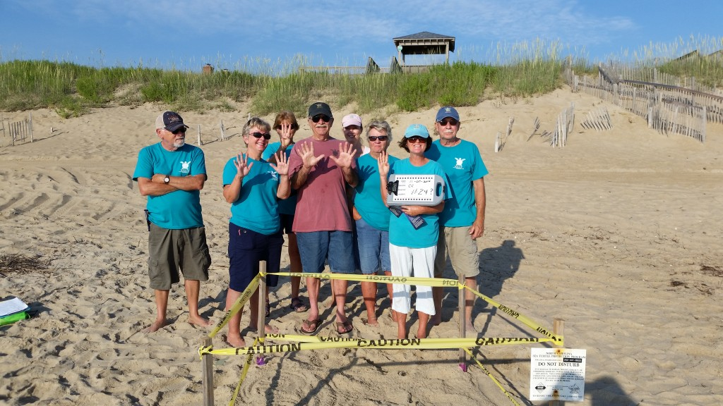 The nest #24 response TEAM calls for a wrap and awaits the next sea turtle nest call.