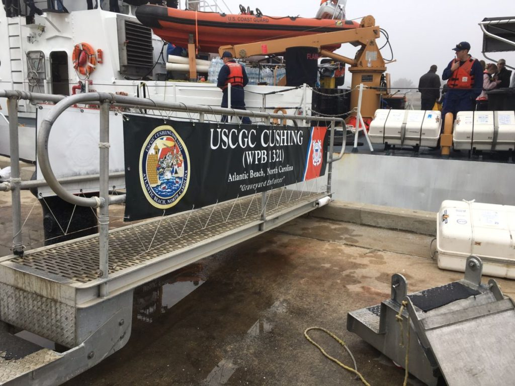 USCGC Cushing ready to make way.